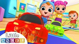 Toy Car Race Song | Nursery Rhymes & Kids Songs - Little Angel