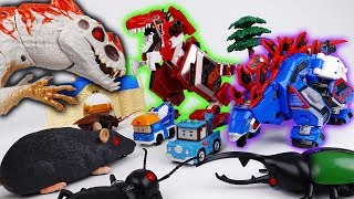 Go Go Geo-Mecha Tyrannotooth Stegotank~! Defeat Bugs & Dinosaur in The Brooms Town
