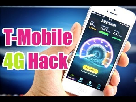 How To Double Your T-mobile 4G Speeds On iPhone 5 Hack - NO Jailbreak Required!