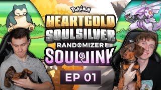 THE MOST INSANE START!!!! | Pokemon Heart Gold and Soul Silver Soul Link Randomized Nuzlocke EP 1
