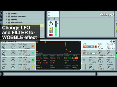 Dubstep Wobble Bass Pt 2 | Ableton Live Tutorial | Operator, Fm video