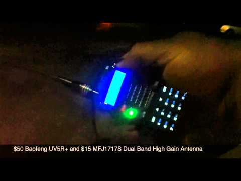 Work Amateur Satellite w/ Baofeng UV5R MFJ Antenna HamSatHD