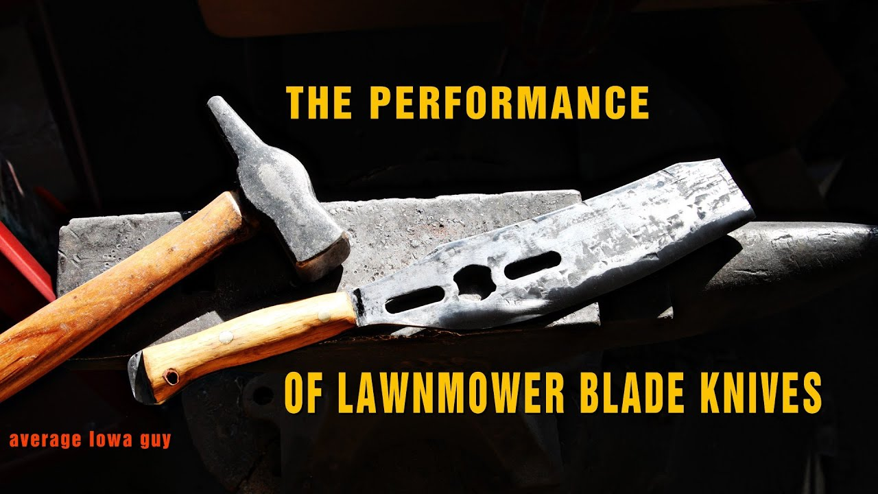 The Performance of Lawnmower Blade Knives - YouTube