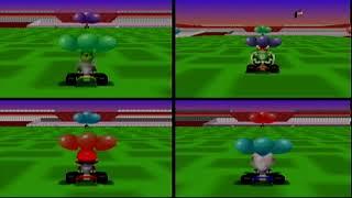 Mario Kart 64 (Wii Virtual Console): 4-Player Battle - 16 Matches