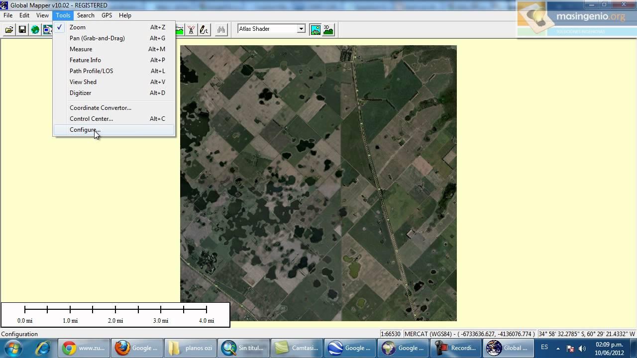 Georeferenciar imagen de google earth para autocad youtube for Planos google