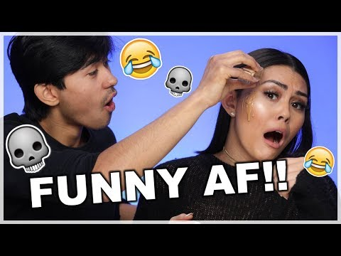 MY BROTHER DOES MY MAKEUP | Roxette Arisa