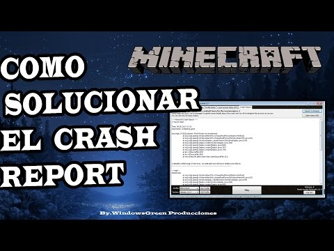 Como Solucionar El Problema Del Crash Report De Minecraft 1.12.2 - 2018 HD.