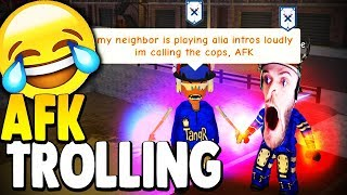 AFK TROLLING #2 IN SUPER POWER TRAINING SIMULATOR (ROBLOX)