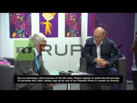 Russia: Putin meets Bernie Ecclestone at Paralympics