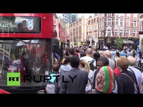 UK: Largest Tube strike since 2002 puts London buses under pressure