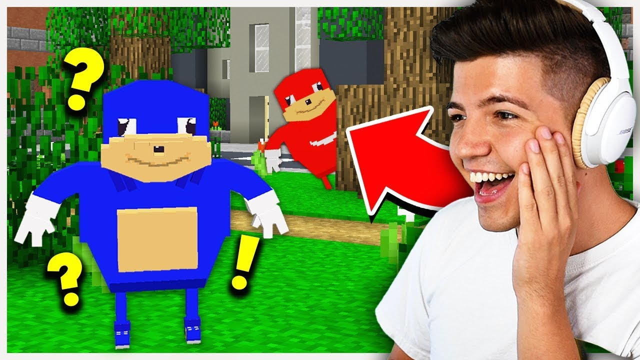 SO FUNNY! | UGANDA KNUCKLES MEME HIDE & SEEK! - Minecraft Mods