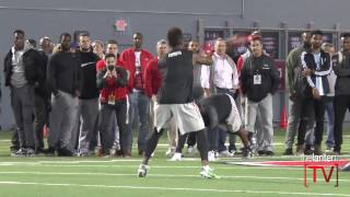 RB/WR Curtis Samuel Full On-Field Workout at 2017 Ohio State Pro Day