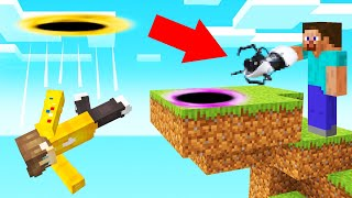 Using A PORTAL GUN In MINECRAFT! (Trolling)