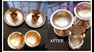 Simple Life Hacks | How to Clean Silver Articles at Home at 0 Cost | ಬೆಳ್ಳಿ ದೀಪ ಕ್ಲೀನ್ ಮಾಡುವುದು ಹೇಗೆ