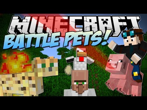 Minecraft BATTLE PETS Aggressive Pigs Angry Ocelots More Mod Showcase