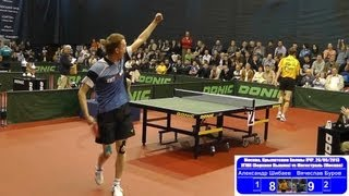 Alexander SHIBAEV vs Vyacheslav BUROV 1/4 Russian Premier League Playoff Table Tennis