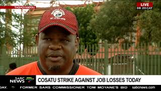 Thohoyandou: Cosatu strike against job losses