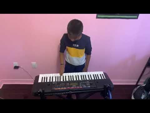 Kannamma Song on Keyboard by Athavan Ahilan 10 years old student of NewYork-Raja of Sarega Music