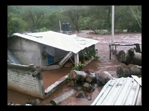 Antes y  Despues de la inundacion en Tierra Caliente Guerrero 18 de septiembre del 2013