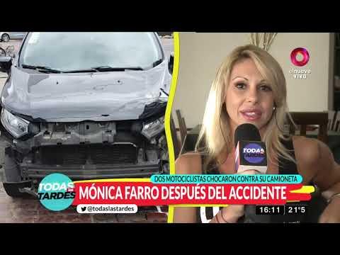 Mónica Farro salvó de milagro tras sufrir un accidente de tránsito
