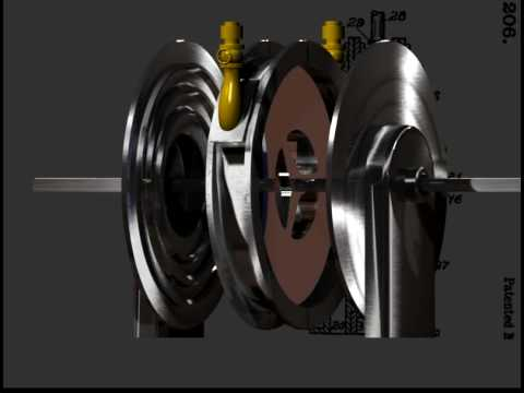 3D Tesla Turbine Assembly