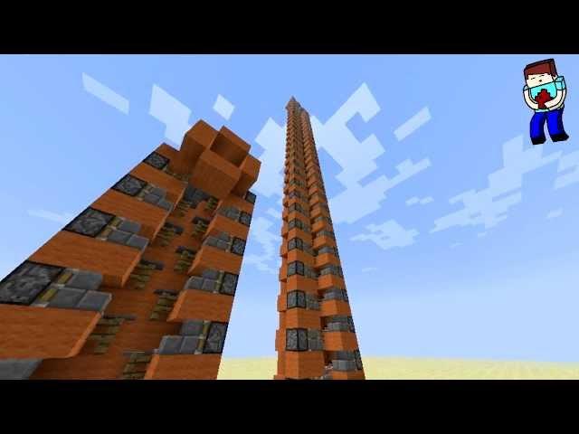 [Minecraft] Урок 50: Гениальный и простой поршневой лифт [1.2.5]