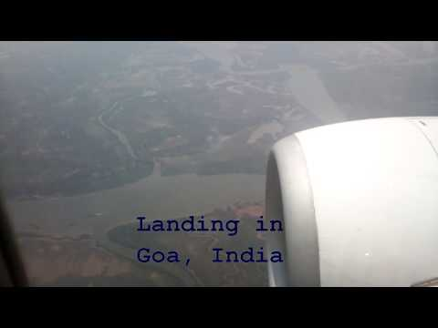 Landing at Dabolim airport, Goa India