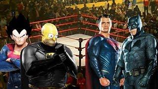 Batman y Superman VS Homero y Vegeta