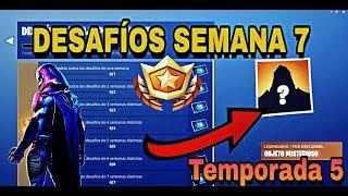 DESAFIOS DE LA SEMANA 7 | DESAFIOS FILTRADOS | Fortnite Battle Royale Temporada 5