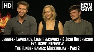 Jennifer Lawrence, Liam Hemsworth & Josh Hutcherson Interview - The Hunger Games Mockingjay Part 2