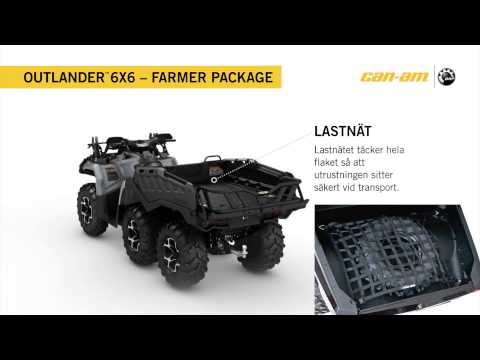 Can-Am Outlander 6X6 1000 XT Farmer package Sweden