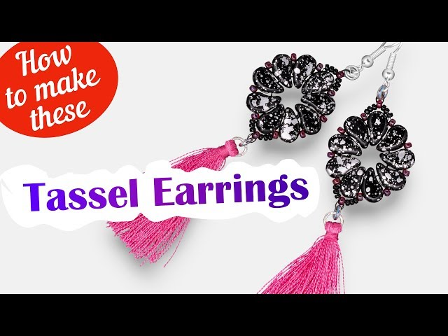 How to make these Astral Tassel earrings | Paisley Duo seed beads