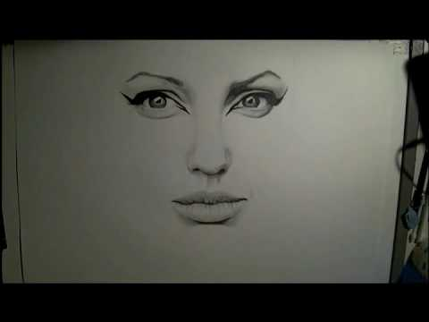 Drawing... Angelina Jolie