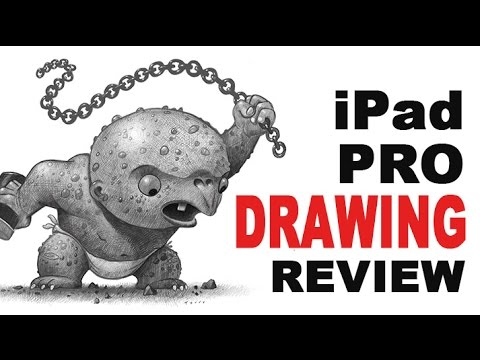 iPad Pro Drawing Review for Illustrators - Using Procreate app