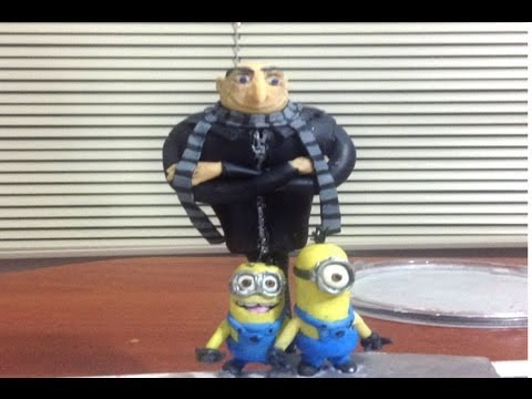 Tutorial GRU mi villano favorito Despicable me Plastilinaporcelana fria clay