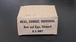 1965 C Ration B Unit US MRE (Meal Ready to Eat)