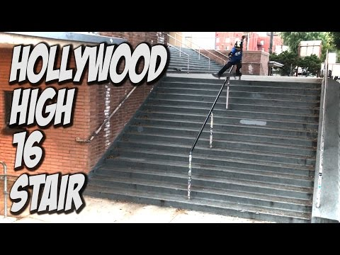 9 YEAR OLD SKATES HOLLYWOOD HIGH 16 STAIR Feat. STEVEN VASQUEZ - A DAY WITH NKA -