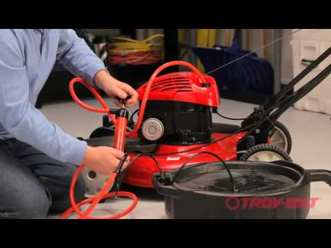 How to change the oil   Troy-Bilt walk-behind lawn mower