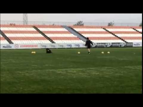 Unai Emery en el entrenamiento