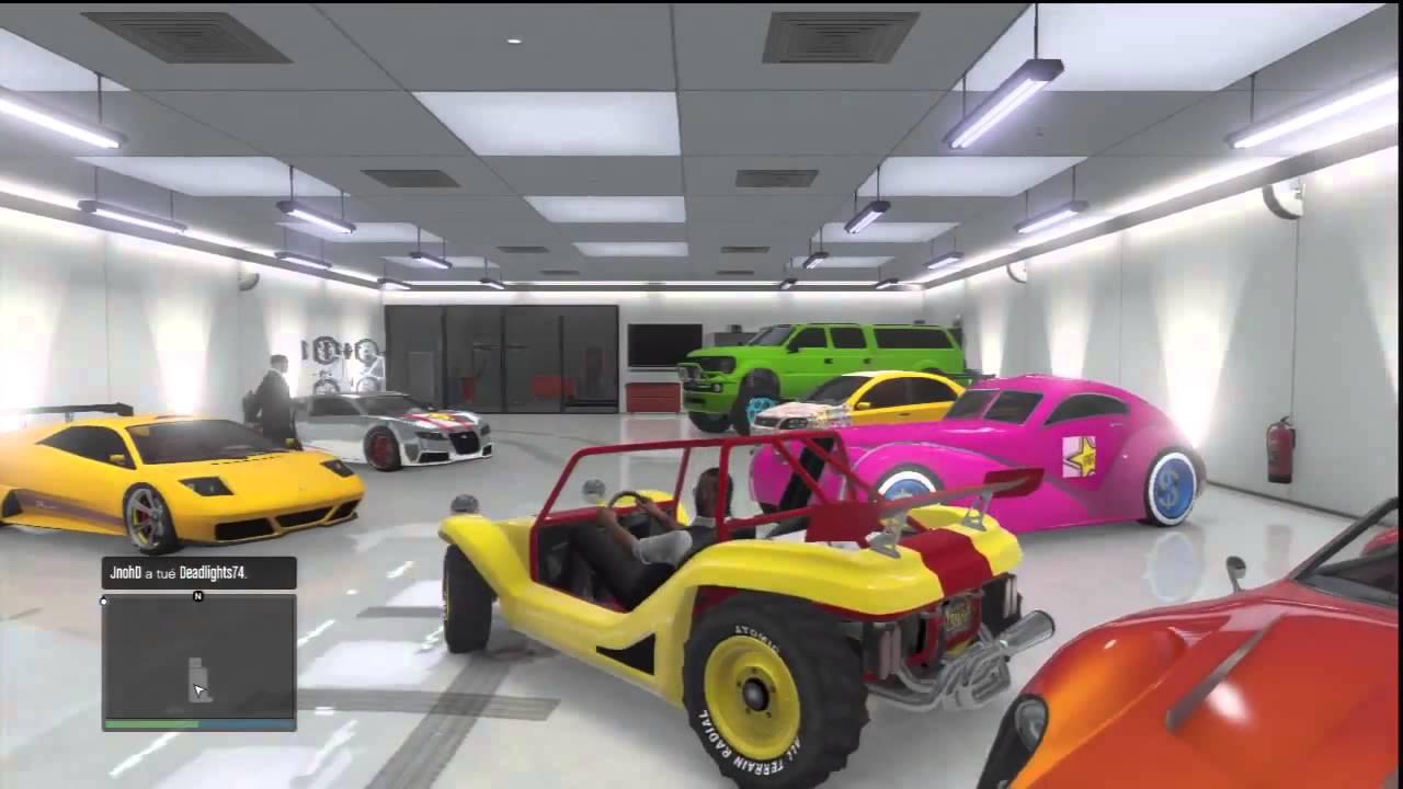 Glitch gta5 rouler dans son garage avec un v hicule en ligne youtube - Vendre son vehicule a un garage ...
