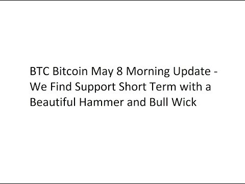BTC Bitcoin May 7 Morning Update - We Find Support Short Term with a Beautiful Hammer and Bull Wick