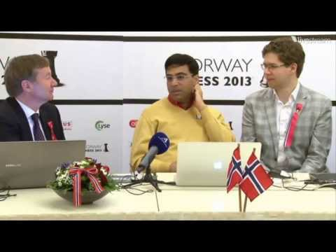 Anand-Hammer Press Conference Norway Chess 2013