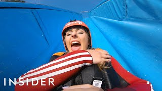 Riding Down A 55-Foot Waterslide + Olympic Bobsledding In Austria  | Travel Dares S2 Ep 3