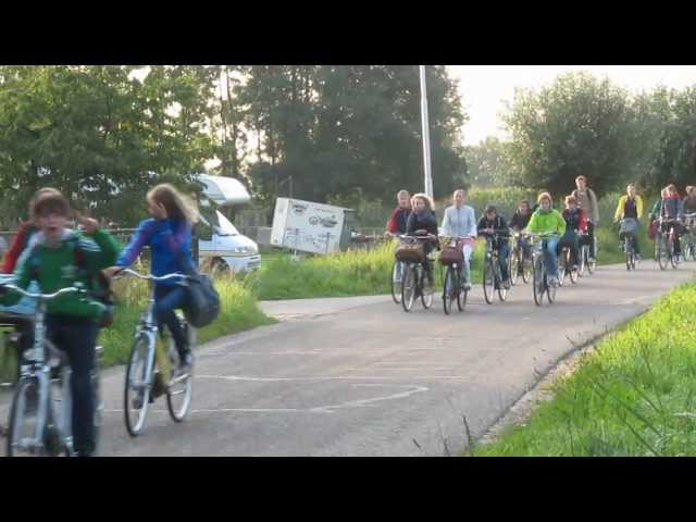 Cycling to school; Culemborg (Netherlands)