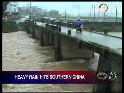 Heavy rains hit southern China