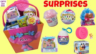 Surprise Toys Num Noms 5 Surprizamals SpongeBob Lalaloopsy Animal Jam Trolls Disney Opening
