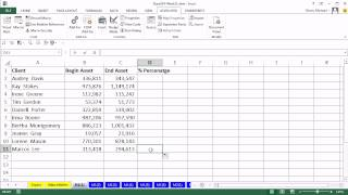 Highline Excel 2013 Class Video 51: Recorded Macro Basics, including Absolute & Relative References