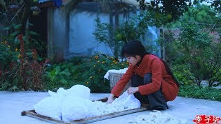 (蚕丝被)Ancient Oriental methods of the Sericulture, the solution to the cold |Liziqi Channel