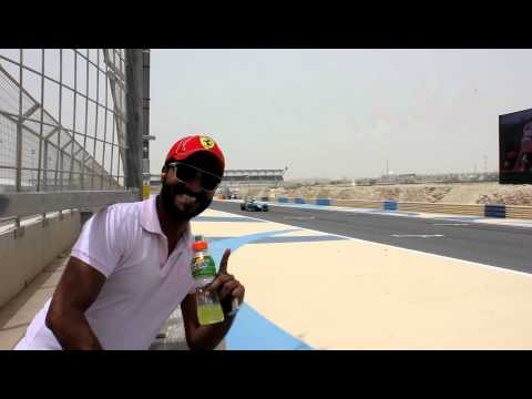 Me watching the GP2 Race from the Crash Barrier (Turn 10 & 11) - Bahrain 2012