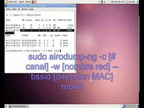 sacar clave WEP con ubuntu